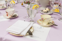 Photo of place setting at the Heritage Circle Tea